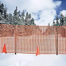 Amazon Com V Protek Poultry Fence Safety Netting Snow Fencing Deer Netting Plastic Barrier For Garden Protection Orange 47 Width X32 8 Length Garden Outdoor