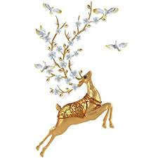 Amazon Com Highpot Diy Deer Wall Stickers Wall Decals 3d Plum Flower Deer And Bird Wall Sticker For Kids Living Room Decor Baby