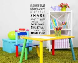 Playroom Rules Quotes Wall Decal Vinyl Art Stickers