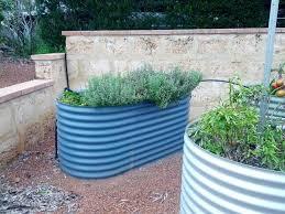 raised garden beds corrugated steel