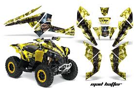 Mad Hatter Can Am Renegade 500 800r 800x 1000 Atv Graphics Yellow Black