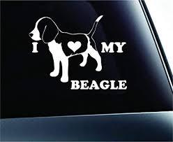 Amazon Com Expressdecor I Love My Beagle Dog Symbol Decal Funny Car Truck Sticker Window White Automotive