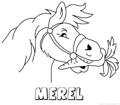 Merel Paard Van Sinterklaas Naam Kleurplaat