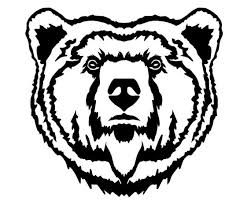 Grizzly Bear Face Vinyl Decal Black Bear Kodiak Brown Etsy