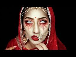 dead indian bride makeup tutorial