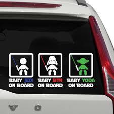 Baby Jedi On Board Sign Car Decal The Decal Guru