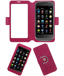 Celkon A20 Flip Cover by ACM - Pink ...