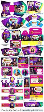 Kit Imprimible Descendientes Descendants Candy Bar Fiesta Kit