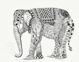 Ben Kwok Olifantje Zentangle Elephant Elephant Coloring Page