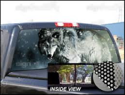P224 Wolf Rear Window Tint Graphic Decal Wrap Back Pickup Graphics Ebay