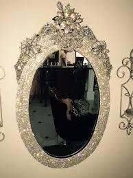 rhinestone wall mirror custom decor