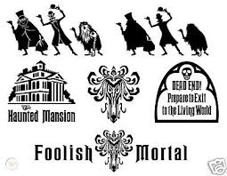 Haunted Mansion 6 Sticker Lot Vinyl Decal Car Decal 45667117
