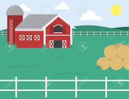 Cartoon Farm With Barn And White Fence Royalty Free Cliparts Vectors And Stock Illustration Image 13433935