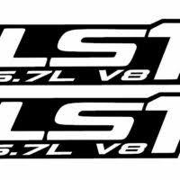 Ls1 Vinyl Decals 15 Colors Chevy Camaro Corvette Trans Am Ls Lsx Swap 5 7l Klp Customs