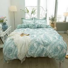 bedding sets palm tree green reversible