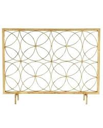 gold fireplace screen ethnic co