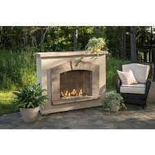 stone arch freestanding gas fireplace