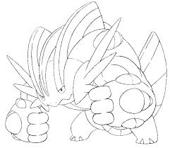 Kleurplaat Pokemon Mega Evolutie Mega Swampert 260 260