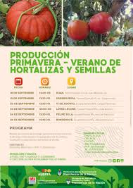 Bordenave: Producción primavera - verano de hortalizas y semillas    Instituto Nacional de Tecnología Agropecuaria
