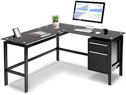 invie l shaped desk home office corner