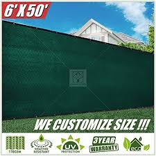 Colourtree 2nd Generation 6 X 50 Green Fence Privacy Screen Windscreen Cover Fabric Shade Tarp Netting Mesh Cloth Commercial Grade 170 Gsm Heavy Duty 3 Years Warranty Custom