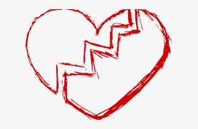 broken heart no background hd png