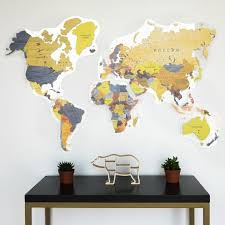 Gifting World Map Unique Office Gift World Map Wall Decal Etsy World Map Wall Decor World Map Wall Decal Map Wall Decor