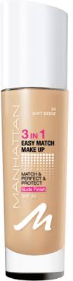 manhattan easy match makeup foundation