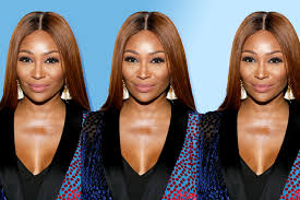 cynthia bailey wears white gown on