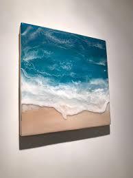 3d resin beach art 50 x 50cm in 2020