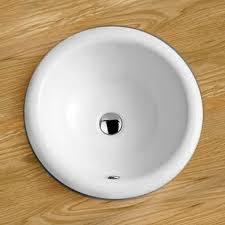 420mm inset round ceramic bathroom