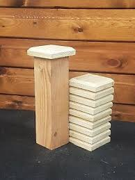 100mm Square Green Treated Wood Decking Fence Post Caps For 3 Posts