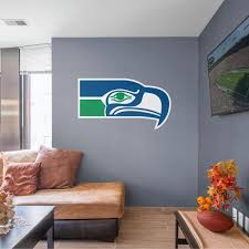 Fathead Seattle Seahawks Classic Logo Giant Officially Licensed Nfl Removable Wall Decal 14 14051 The Home Depot