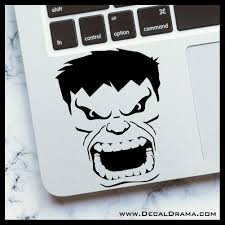 Incredible Hulk Face Marvel Comics Avengers Vinyl Car Laptop Decal Decal Drama