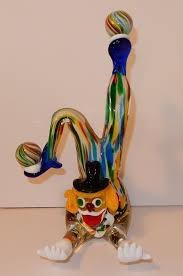 glass murano multi coloured clown