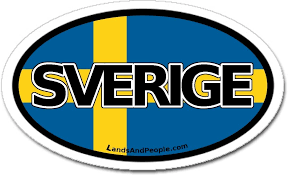 Amazon Com Sweden Sverige In Swedish And Swedish Flag Car Bumper Sticker Decal Oval Arts Crafts Sewing