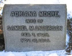 Adriana Moore Anderson (1829-1914) - Find A Grave Memorial