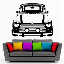 Classic Mini Cooper Vinyl Wall Art Car Sticker Room Decal Car Creative Wall Stickers For Kids Room Living Room Home Decor Zb314 Sticker For Kids Room Wall Stickers For Kidswall Sticker Aliexpress