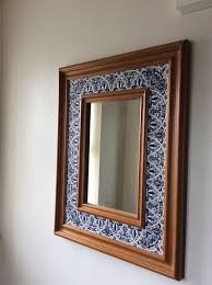 wall mirror pine framed inlaid with