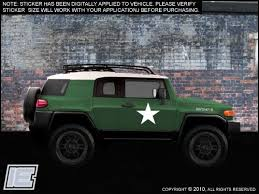 Army Style Decals Stars Numbers Fits Toyota Fj Cruiser Many Ot Importequipment