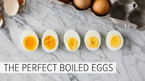 soft boiled and hard boiled eggs