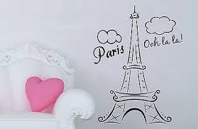 Paris Eiffel Tower Ooh La La Wall Decal Decor France French Love Hearts Sticker 15 99 Picclick