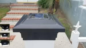 5x5 Solar Fence Post Cap Lights Solar Deck Post Lights Post Caps