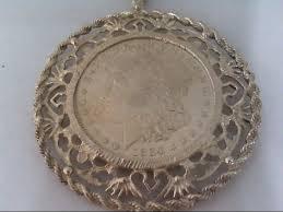 1884 morgan silver dollar pendant very