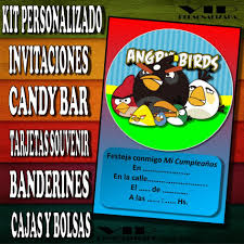 Kit Imprimible Angry Birds Cumpleanos Bautismo Candy