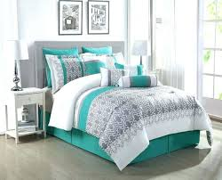 black and teal comforter sets white