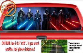 W110 Star Wars Darth Vader Rogue One Car Rear Window Perforated Sticker Decal Ebay