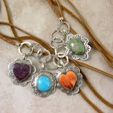 purple heart in silver purple spiny