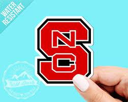North Carolina State University Vinyl Sticker Nc State Etsy