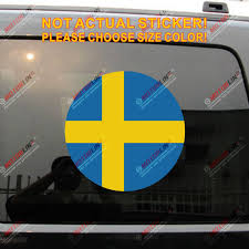 Flag Of Sweden Swedish Flag Decal Sticker Roundel Car Vinyl Reflective Glossy Pick Size Car Stickers Aliexpress